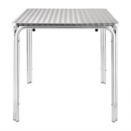 Table bistro empilable 70x70cm / Acier inoxydable