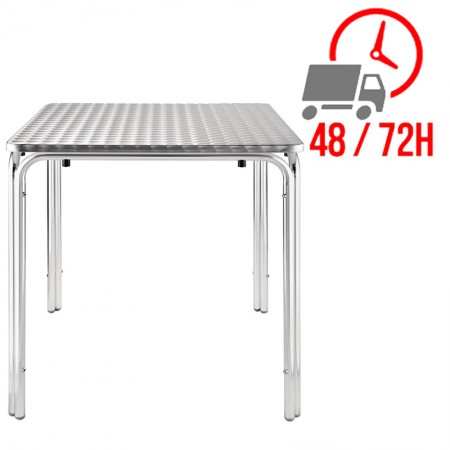 Table bistro empilable 70x70cm / Acier inoxydable