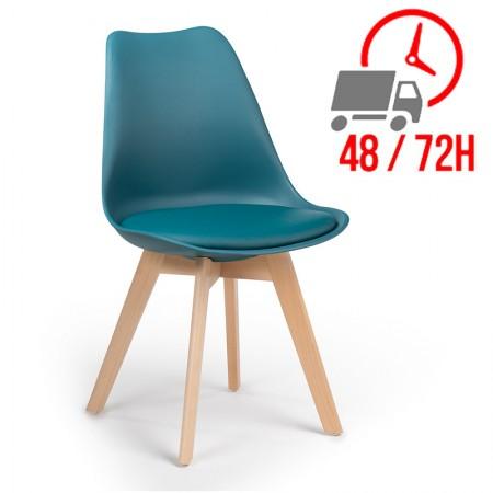 Scandinave / Confort Plus - Bleu Turquoise Intense