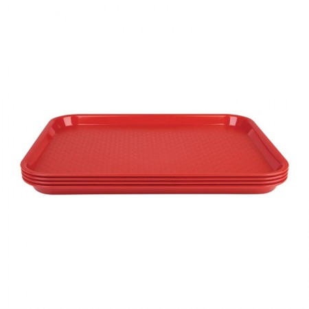 Plateau de service rouge 415x305mm - LOT DE 30