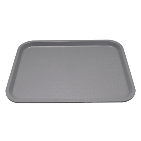 Plateau de service gris 415x305mm - LOT DE 30