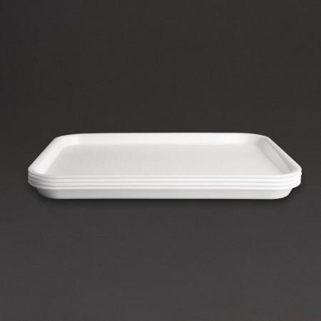 Plateau de service blanc 450x350mm - LOT DE 10