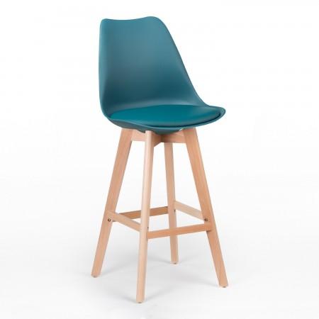 Tabouret Scandinave / Confort Plus - Bleu Turquoise