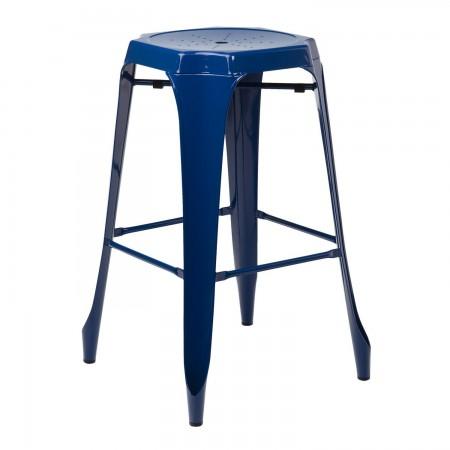 Tabouret Industriel Design / Métal - Bleu Marin