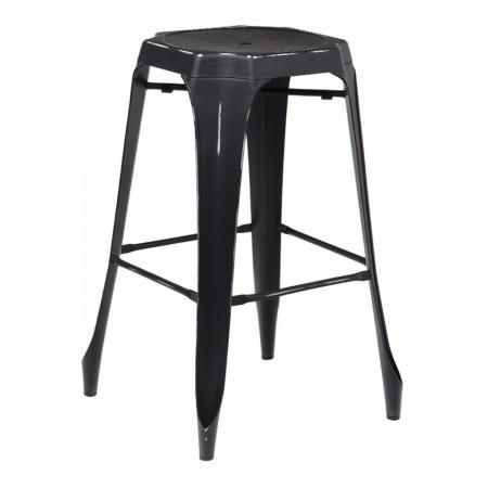 Tabouret Industriel Design / Métal Vintage - Noir