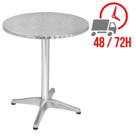 Table bistro ronde Ø 60 cm / Acier et alu