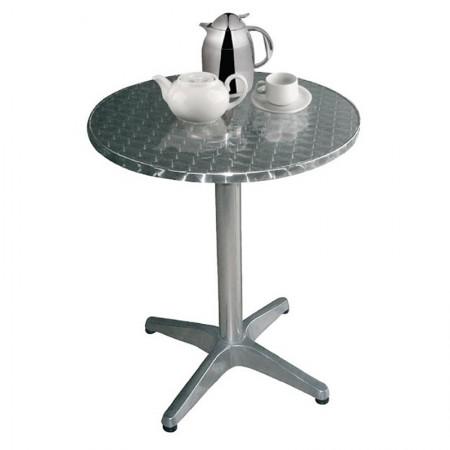 Table bistro ronde Ø 80 cm / Acier et alu