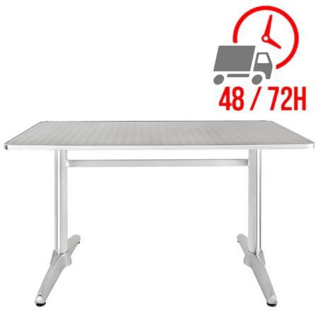 Table rectangulaire 120x60cm / Acier inox et alu