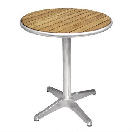 Table bistro Ø60cm / Frêne & alu