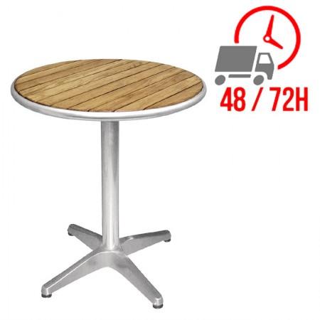 Table bistro Ø60cm / Frêne & alu