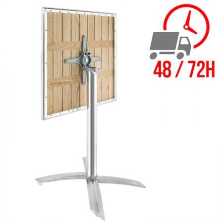 Table bistro plateau basculant 60x60cm / Frêne & alu