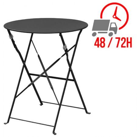 Table de terrasse Ø60cm / Noire