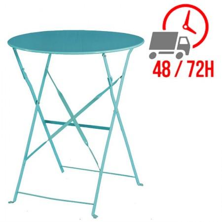Table de terrasse Ø60cm / Bleu Turquoise