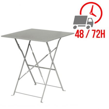 Table de terrasse 60x60cm / Grise