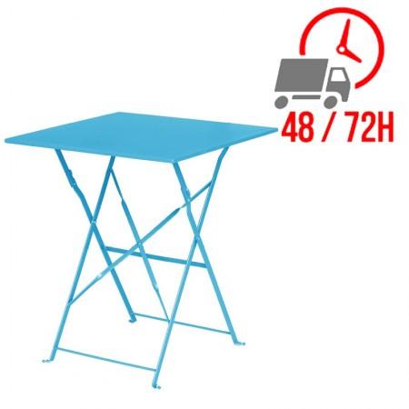 Table de terrasse 60x60cm / Bleu Turquoise