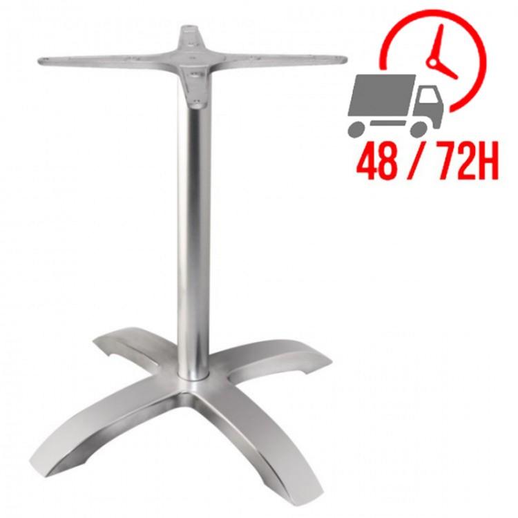 Pied De Table Alu.Pied De Table Aluminium Brosse 4 Branches Restonoble Fr Le Monde Du C H R A Portee De Clic
