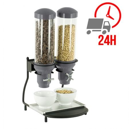 Distributeur de céréales 2 tubes