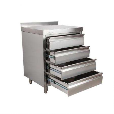 Placard 4 tiroirs adossée / P.600 mm L.700 mm