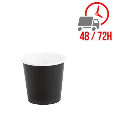 Gobelets jetables à café espresso Fiesta noirs 120 ml / x 50 Unités