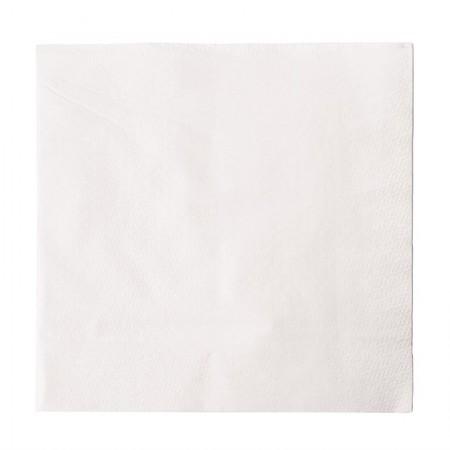 Serviettes snacking en papier blanches 330 x 330mm / x 5000 Unités