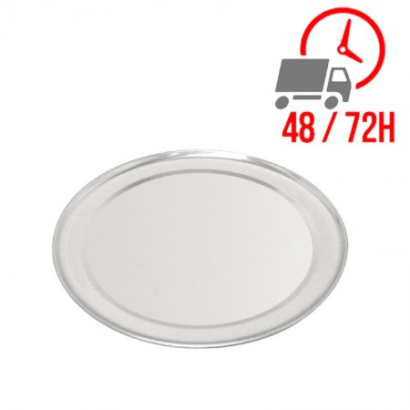 Plaque à pizza en aluminium 8 mm de profondeur - Ø 30,5 cm