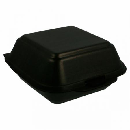 Boites hamburger noir PSE 150x150x70 mm / 500 Unités