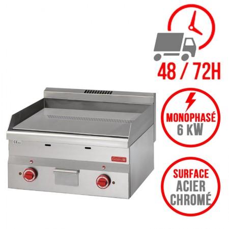 Plaque de cuisson électrique 600 x 600 mm (6kW) - Surface acier chromée