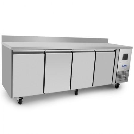 Table réfrigérée 600 / 4 portes avec dosseret