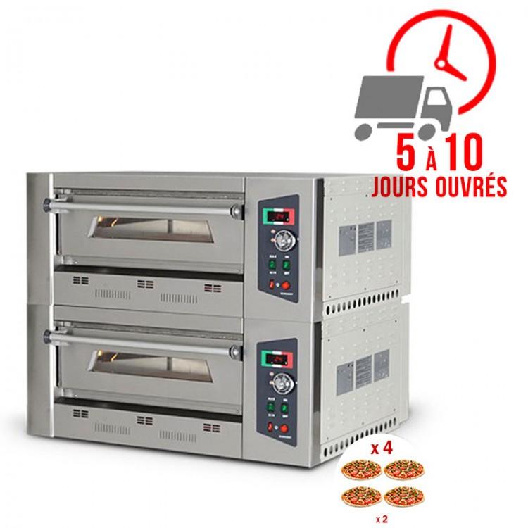 Four à pizza gaz 4 + 4 x 33 cm / RESTONOBLE