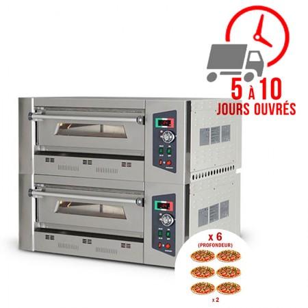 Four à pizza gaz 6 + 6 x 33 cm (profondeur) / RESTONOBLE