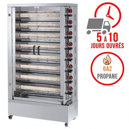 Rôtissoire 8 broches - 40/48 Poulets - Gaz propane / FECA
