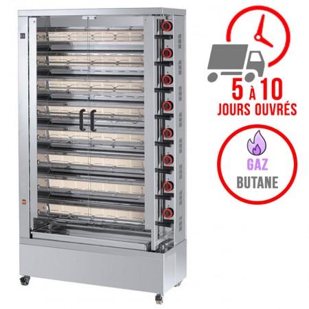 Rôtissoire 8 broches - 40/48 Poulets - Gaz butane / FECA