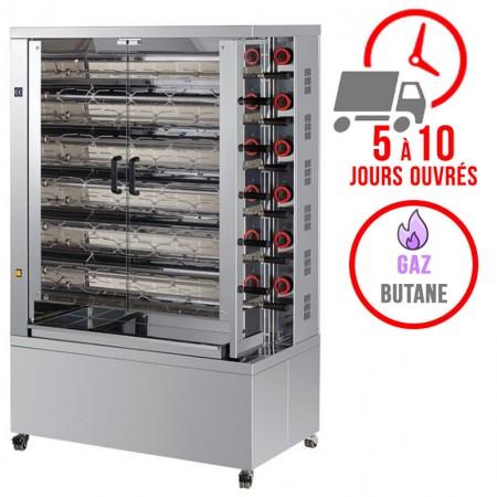 Rôtissoire 11 broches - 55/66 Poulets - Gaz butane / FECA