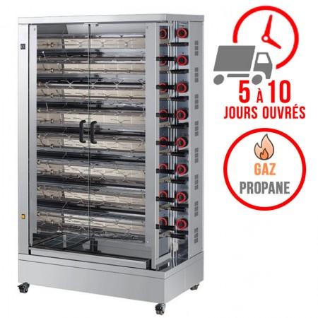 Rôtissoire 15 broches - 75/90 Poulets - Gaz propane / FECA