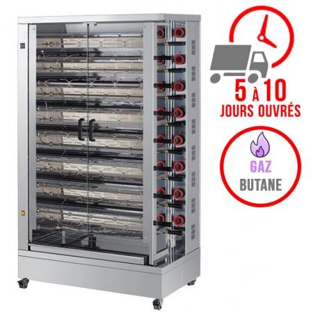Rôtissoire 15 broches - 75/90 Poulets - Gaz butane / FECA