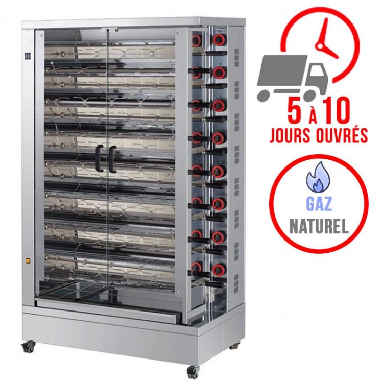 Rôtissoire 15 broches - 75/90 Poulets - Gaz naturel / FECA