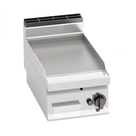 Plaque de cuisson gaz 400 x 700 mm (6.9kW) - Surface acier lisse