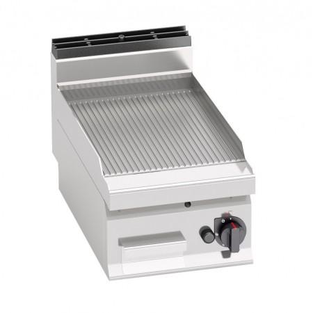 Plaque de cuisson gaz 400 x 700 mm (6.9kW) - Surface acier rainurée
