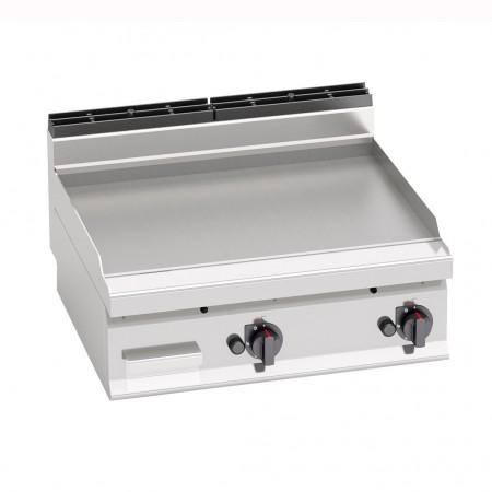 Plaque de cuisson gaz 800 x 700 mm (13.8kW) - Surface acier lisse