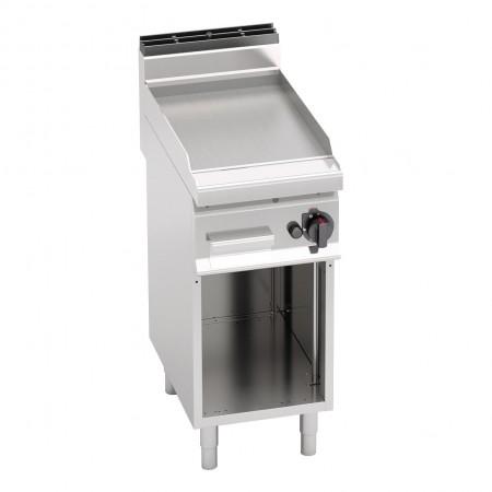 Plaque de cuisson gaz sur pieds 400 x 700 mm (6.9kW) - Surface acier lisse