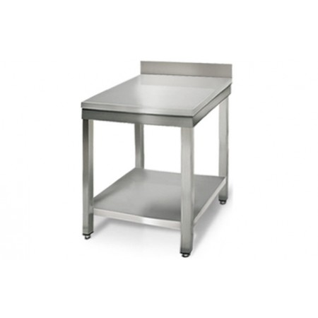 Table inox 600 x 600 mm adossée / RESTONOBLE
