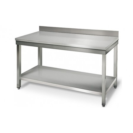 Table inox 1400 x 600 mm adossée / RESTONOBLE