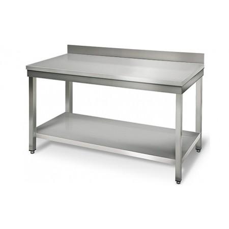 Table inox 1500 x 700 mm adossée / GOLDINOX
