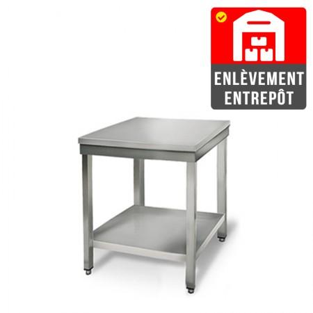 Table inox 600 x 600 mm