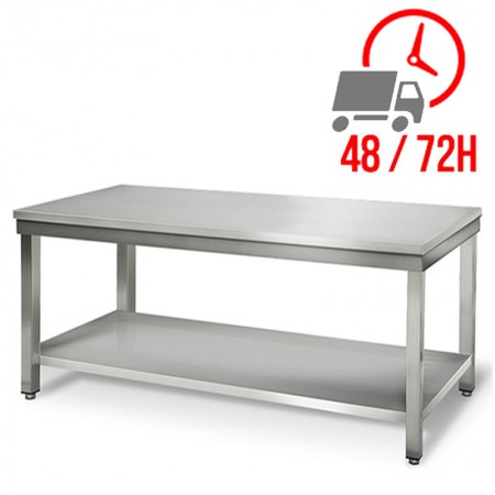 Table inox 2000 x 600 mm / RESTONOBLE