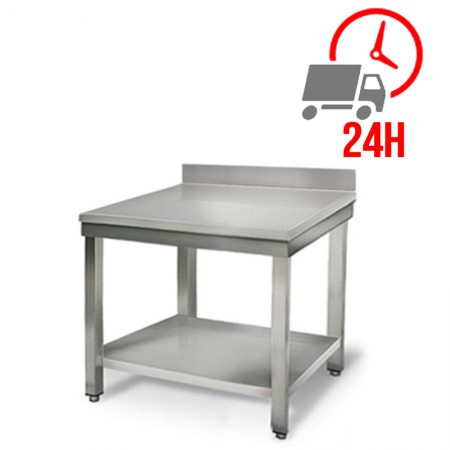 Table inox 800 x 600 mm adossée / RESTONOBLE