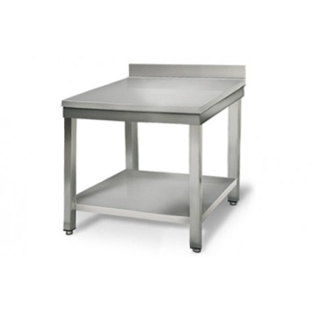 Table inox 700 x 700 mm adossée / RESTONOBLE