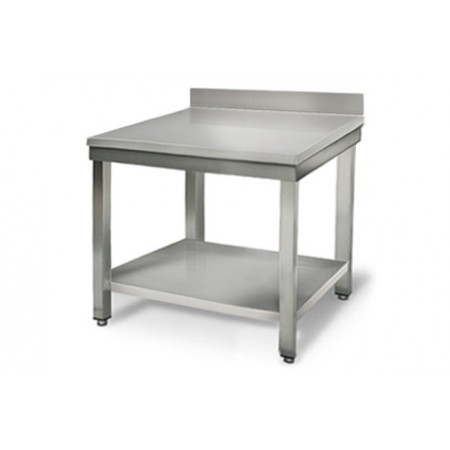 Table inox 800 x 700 mm adossée / RESTONOBLE