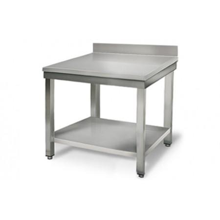 Table inox 800 x 700 mm adossée / RESTONOBLE