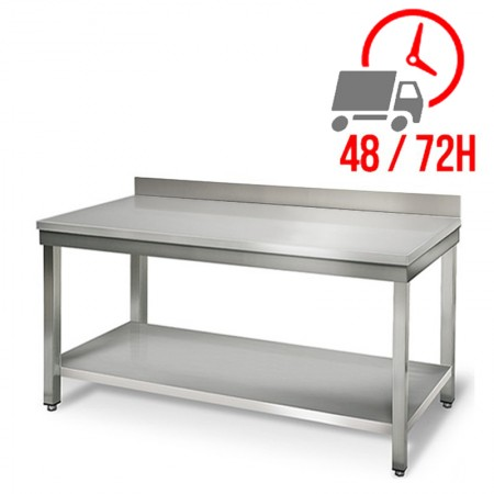 Table inox 1600 x 700 mm adossée / RESTONOBLE